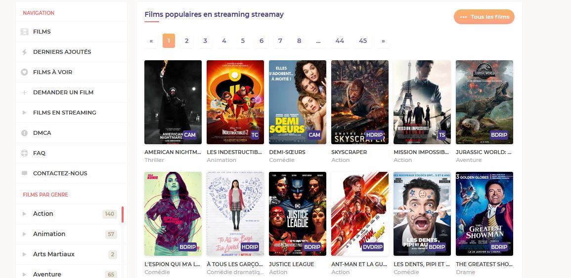 films a voir streamay