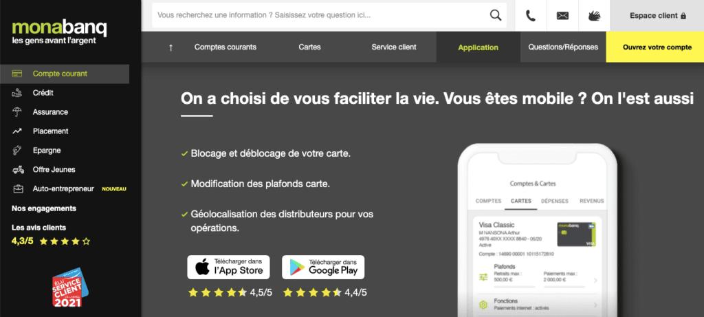 Avis Monabanq : appli mobile