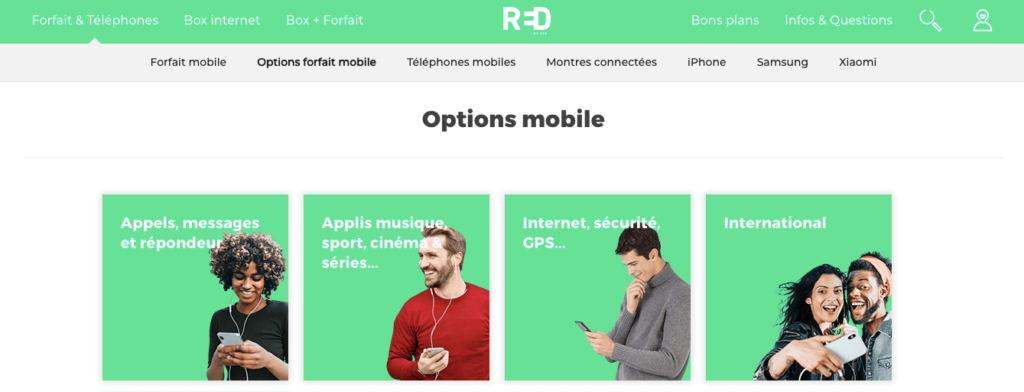 Avis Red by Sfr : options mobiles