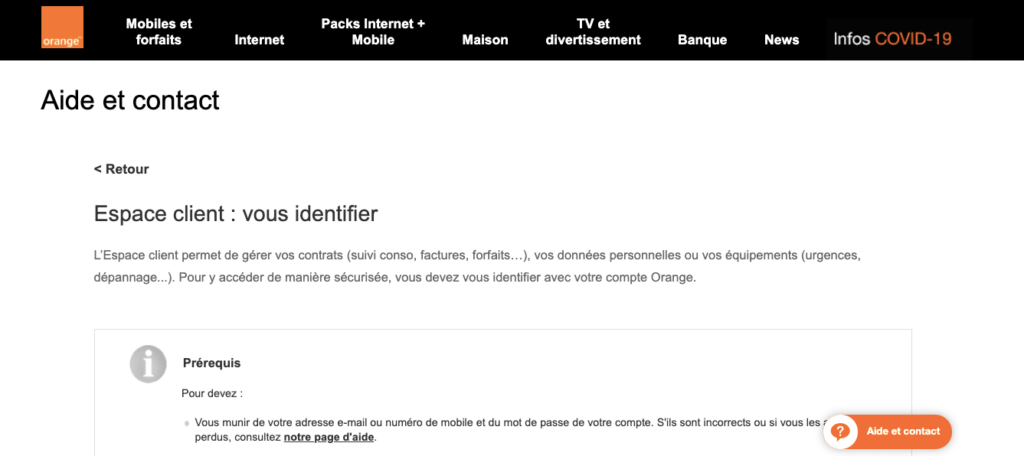 Avis Orange : service client