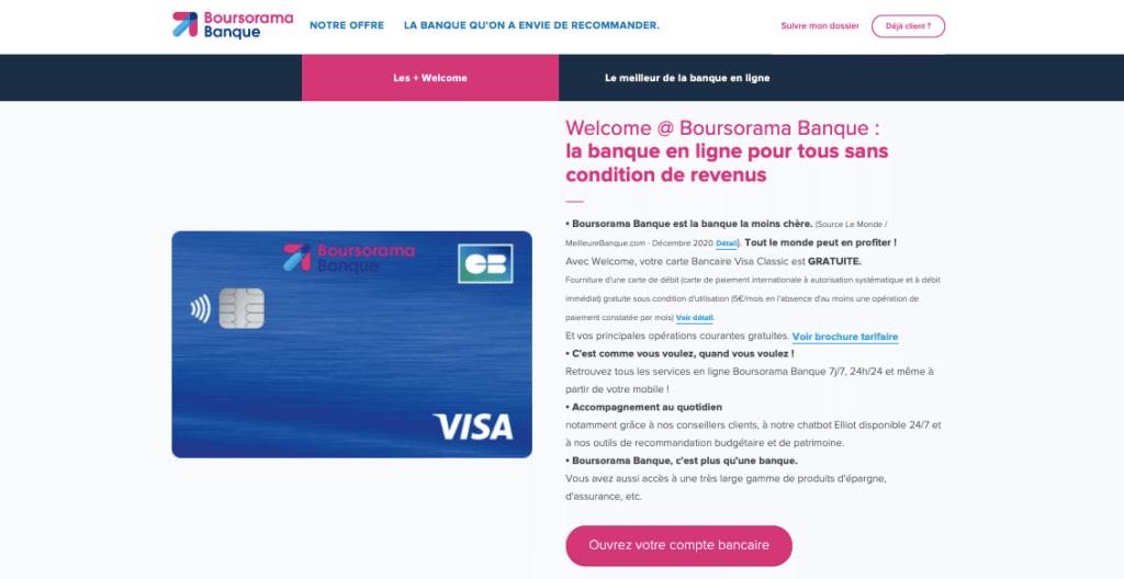 Avis Boursorama : Welcome