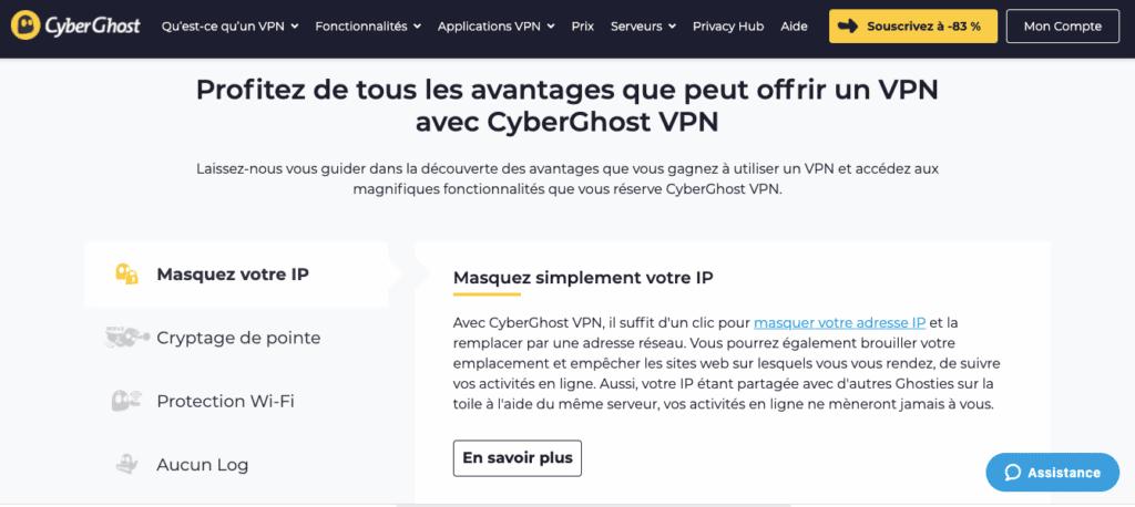 Avis CyberGhost : performance