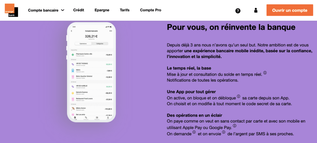 Avis Orange Bank : l'appli mobile