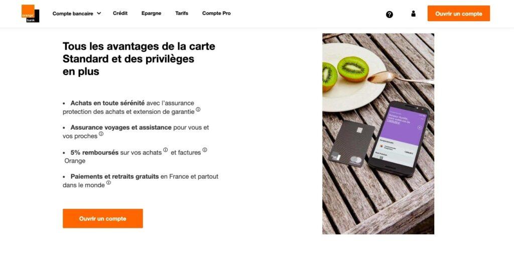 Avis Orange Bank : carte premium