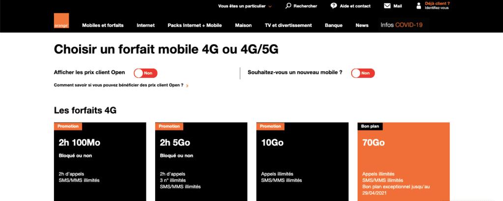 Avis Orange : forfaits 5g