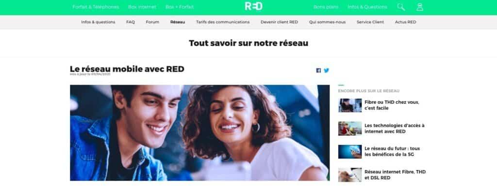 Avis Red By Sfr : le réseau