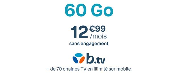 Forfait mobile 60 Go