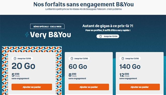 Very B&You 60 Go à 140 Go