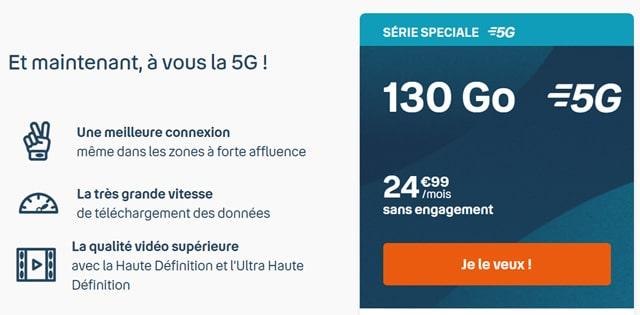 forfait mobile 5G pas cher