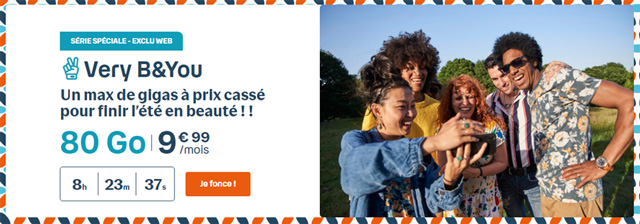 Forfait mobile 80 Go Bouygues