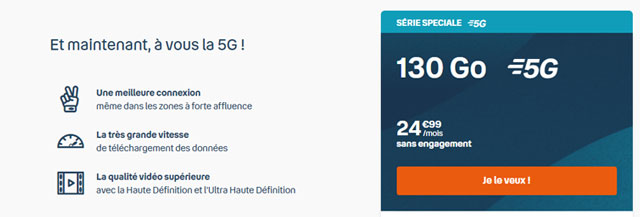 Forfait mobile Bouygues 5G promo